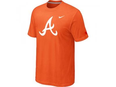 MLB Atlanta Braves Heathered NEW Orange Blended T-Shirt