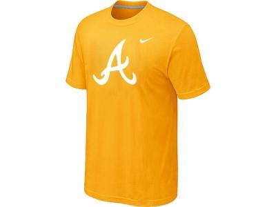 MLB Atlanta Braves Heathered NEW Yellow Blended T-Shirt
