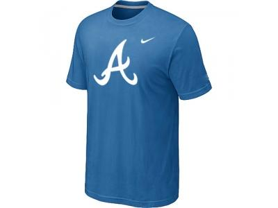 MLB Atlanta Braves Heathered NEW light Blue Blended T-Shirt