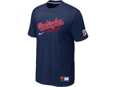 MLB Washington Nationals D.Blue NEW Short Sleeve Practice T-Shirt
