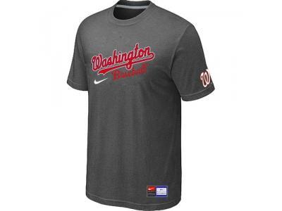 MLB Washington Nationals D.Grey NEW Short Sleeve Practice T-Shirt