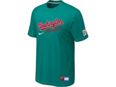 MLB Washington Nationals Green NEW Short Sleeve Practice T-Shirt