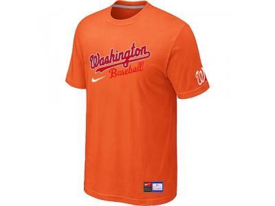 MLB Washington Nationals Orange NEW Short Sleeve Practice T-Shirt