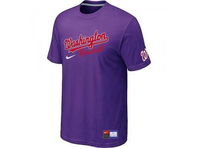 MLB Washington Nationals Purple NEW Short Sleeve Practice T-Shirt