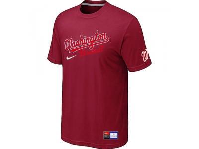 MLB Washington Nationals Red NEW Short Sleeve Practice T-Shirt