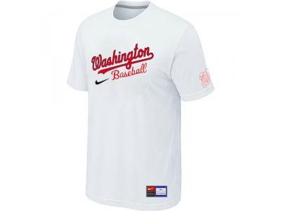 MLB Washington Nationals White NEW Short Sleeve Practice T-Shirt