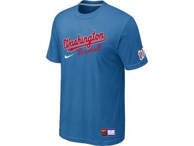 MLB Washington Nationals light Blue NEW Short Sleeve Practice T-Shirt
