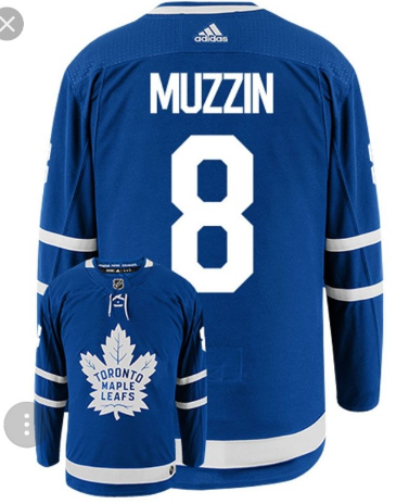 Maple Leafs #8 Jake Muzzin Blue Adidas Jersey