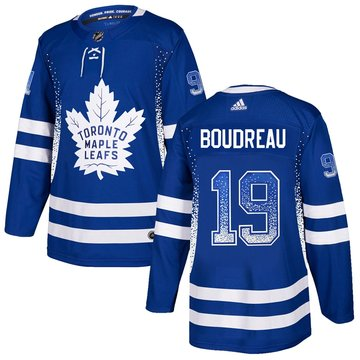 Maple Leafs 19 Bruce Boudreau Blue Drift Fashion Adidas Jersey