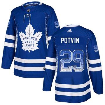 Maple Leafs 29 Felix Potvin Blue Drift Fashion Adidas Jersey