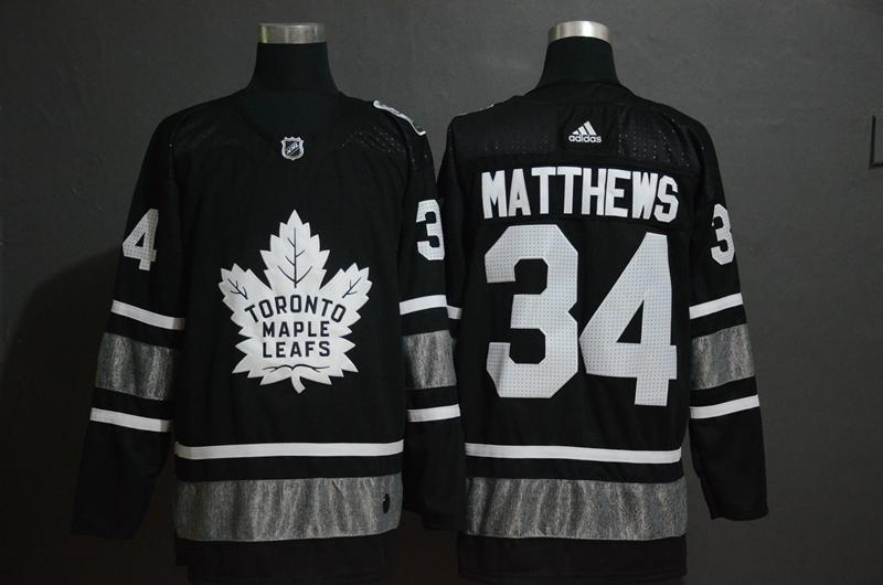 Maple Leafs 34 Auston Matthews Black 2019 NHL All-Star Adidas Jersey