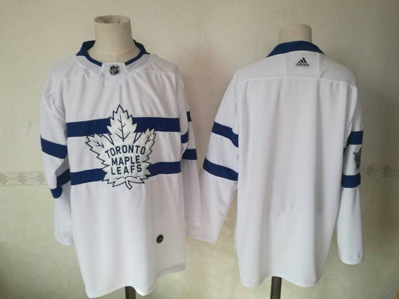 Maple Leafs Blank White 2018 NHL Stadium Series Adidas Jersey