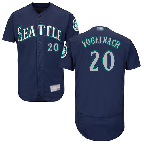 Mariners #20 Dan Vogelbach Navy Blue Flexbase Authentic Collection Stitched Baseball Jersey