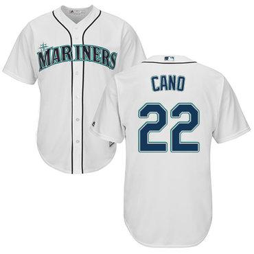 Mariners #22 Robinson Cano White New Cool Base Stitched MLB Jersey