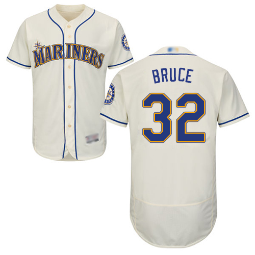 Mariners #32 Jay Bruce Cream Flexbase Authentic Collection Stitched Baseball Jersey