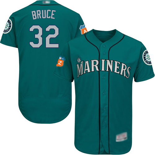 Mariners #32 Jay Bruce Green Flexbase Authentic Collection Stitched Baseball Jersey