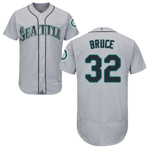 Mariners #32 Jay Bruce Grey Flexbase Authentic Collection Stitched Baseball Jersey