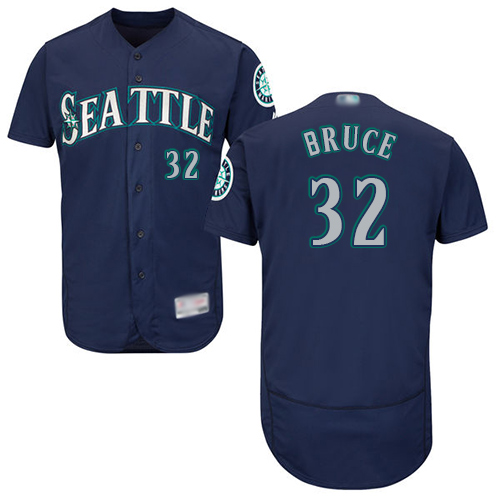 Mariners #32 Jay Bruce Navy Blue Flexbase Authentic Collection Stitched Baseball Jersey