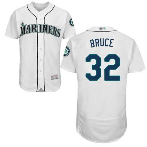 Mariners #32 Jay Bruce White Flexbase Authentic Collection Stitched Baseball Jersey