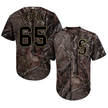 Mariners #65 James Paxton Camo Realtree Collection Cool Base Stitched Baseball Jersey