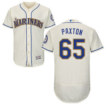 Mariners #65 James Paxton Cream Flexbase Authentic Collection Stitched Baseball Jersey