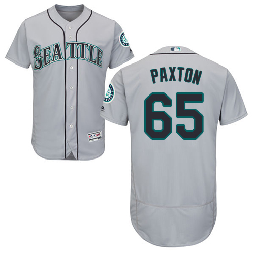 Mariners #65 James Paxton Grey Flexbase Authentic Collection Stitched Baseball Jersey