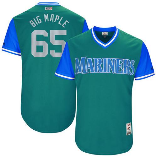 Mariners 65 James Paxton Big Maple Majestic Aqua 2017 Players Weekend Jersey