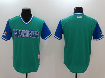 Mariners Aqua 2018 Players' Weekend Authentic Team Jersey