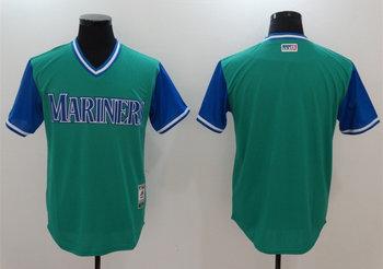 Mariners Majestic Aqua 2017 Players Weekend Team Jersey