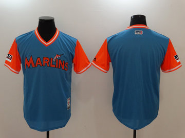 Marlins Light Blue 2018 Players' Weekend Authentic Team Jersey