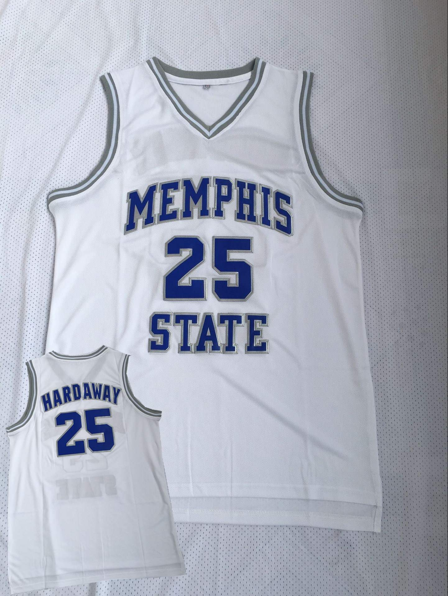 Memphis Tigers 25 Penny Hardaway White College Basketball Jersey