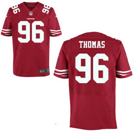 Men's 2017 NFL Draft San Francisco 49ers #96 Solomon Thomas Scarlet Red Team Color Stitched NFL Nike Elite Jersey