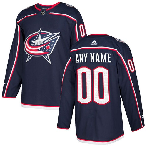 Men's Adidas Blue Jackets Personalized Authentic Navy Blue Home NHL Jersey