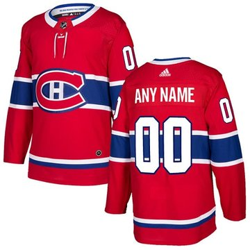 Men's Adidas Canadiens Personalized Authentic Red Home NHL Jersey