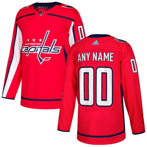 Men's Adidas Capitals Personalized Authentic Red Home NHL Jersey