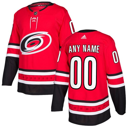 Men's Adidas Hurricanes Personalized Authentic Red Home NHL Jersey