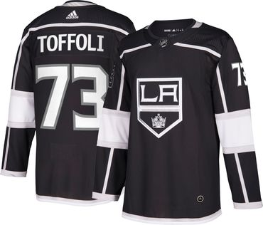Men's Adidas Kings #73 Tyler Toffoli Black Home Authentic Stitched NHL Jersey