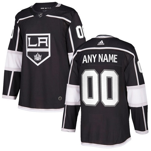Men's Adidas Kings Personalized Authentic Black Home NHL Jersey
