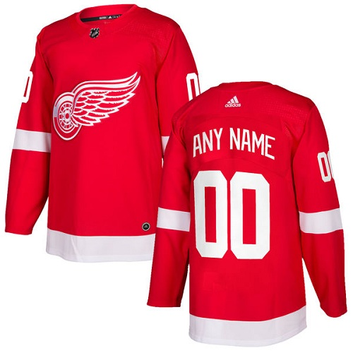 Men's Adidas Red Wings Personalized Authentic Red Home NHL Jersey