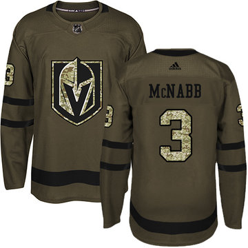 Men's Adidas Vegas Golden Knights #3 Brayden McNabb Green Salute to Service NHL Jersey