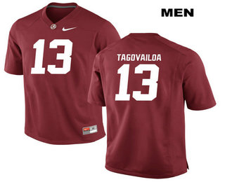 Men's Alabama Crimson Tide #13 Tua Tagovailoa Red Stitched NCAA 2017 Nike College Football Jersey