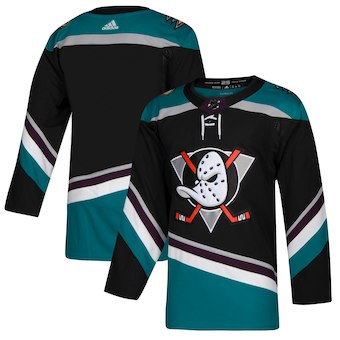 Men's Anaheim Ducks adidas Black Alternate Authentic Blank Jersey