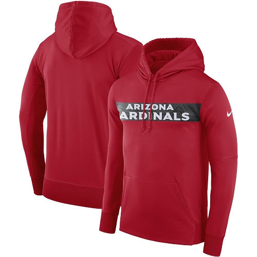 Men's Arizona Cardinals Nike Cardinal Sideline Team Performance Pullover Hoodie