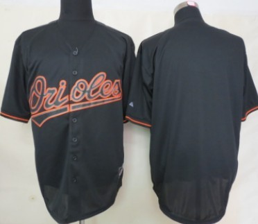 Men's Baltimore Orioles Customized 2012 Black Fashion Jersey
