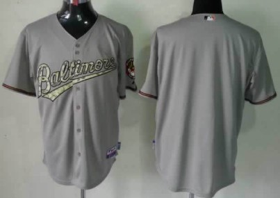 Men's Baltimore Orioles Customized Gray With Camo Jersey