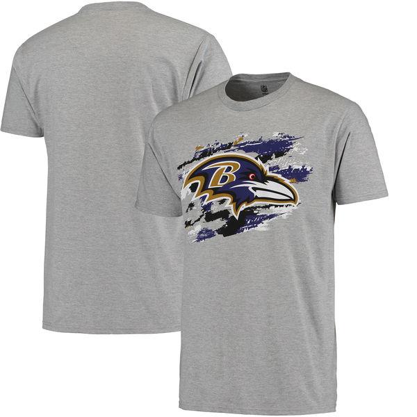 Men's Baltimore Ravens NFL Pro Line True Color T-Shirt Heathered Gray