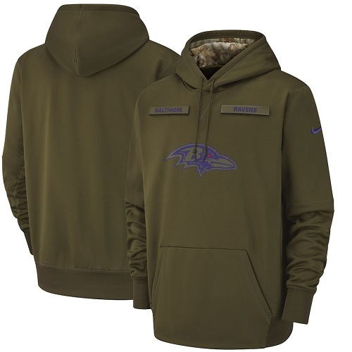 Men's Baltimore Ravens Nike Olive Salute to Service Sideline Therma Performance Pullover Hoodie$109.99$43.50
