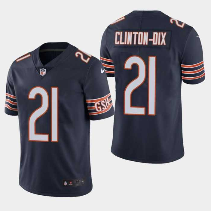 Men's Bears #21 Clinton-Dix Bears HaHa Navy Vapor Untouchable Limited Jersey