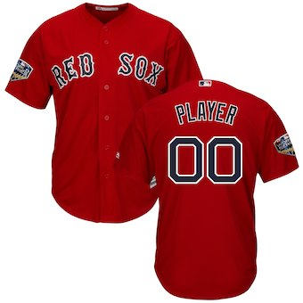 Men's Boston Red Sox 2018 World Series Cool Base Custom Jersey