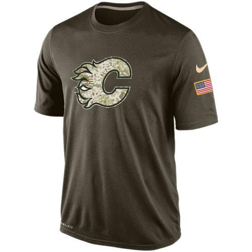 Men's Calgary Flames Salute To Service Nike Dri-FIT T-Shirt